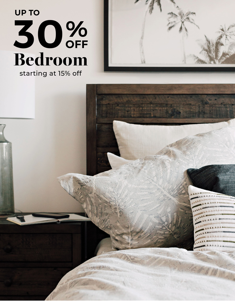 up to 30% odd Bedroom starting at 15% off